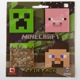 Значки Minecraft Pin Pack (набор 4шт)