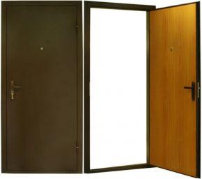 сколько стоит установка железной двери в коридор