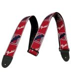 FSR 2` MONOGRAMMED RED/WHITE/BLUE STRAP FENDER FSR 2` MONOGRAMMED RED/WHITE/BLUE STRAP